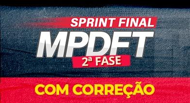 Sprint Final MPDFT 2ªFase (Com correção)